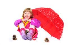 Child with umbrella Stock Photo