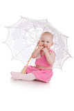 Child with umbrella Royalty Free Stock Image