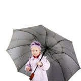 Child with umbrella Royalty Free Stock Images