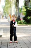 Child with umbrella in hands Stock Photography