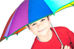 Child with umbrella. Smilling and happy child with umbrella Stock Photography