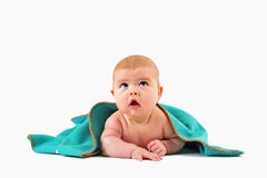 Child under blanket Royalty Free Stock Photo