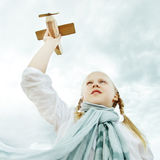 Child Under Sky, Freedom Concept Stock Photos
