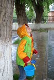 Child under tree Royalty Free Stock Images