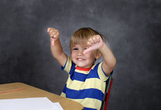 Child Unhappy about School Stock Photography