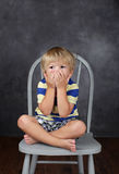 Child Unhappy about School Royalty Free Stock Photography