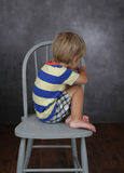 Child Unhappy about School Stock Image