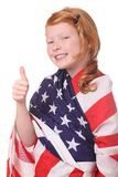 Child with USA flag Stock Photos