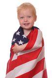 Child with USA flag Royalty Free Stock Photography