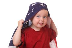 Child with USA flag Stock Photo