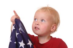 Child with USA flag Royalty Free Stock Images