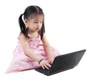 Child Using Laptop Stock Images