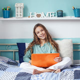 Child using laptop Royalty Free Stock Photo