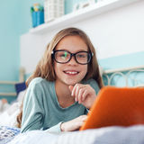 Child using laptop Stock Photography