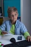 Child using modern technologies Royalty Free Stock Photo