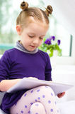 Child using tablet Stock Image