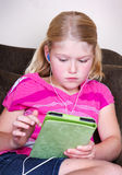 Child using a tablet Royalty Free Stock Image
