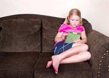 Child using a tablet Stock Photos