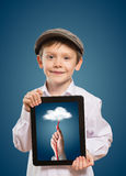 Child using a tablet PC Royalty Free Stock Photography