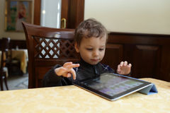 Child using tablet PC Stock Photography