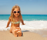 Child at vacations on sea Royalty Free Stock Photo