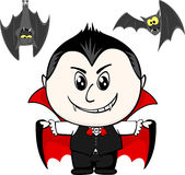 Child with vampire costume Royalty Free Stock Photography