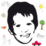Child (vector) Royalty Free Stock Photos