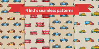 Child vector seamless pattern set. Royalty Free Stock Photography