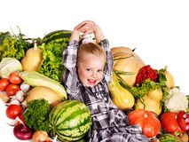 Child with vegetable . Stock Photo