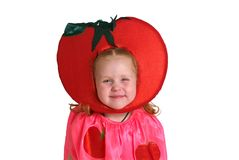 A child in vegetable costume Stock Photos
