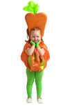 A child in vegetable costume Stock Image