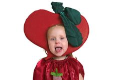 A child in vegetable costume Stock Images