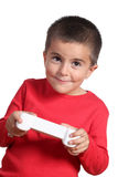 Child with videogame remote control Royalty Free Stock Photo