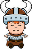 Child Viking Sitting Royalty Free Stock Photo