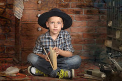 Boy with a book royalty free stock images
