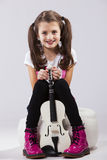 Child with a violin Royalty Free Stock Photos