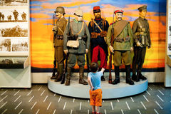 Child visiting museum Stock Photo