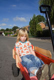Child wagon cart estate Stock Images