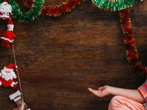 Child waiting for Christmas miracle Royalty Free Stock Photo