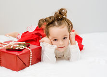 The child waits a New Year's gift Stock Photos