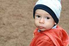 Child on walk. A portrait of the child on walk Stock Photography