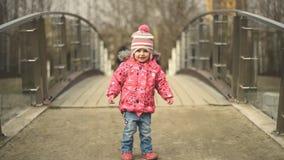 Child walking stock video