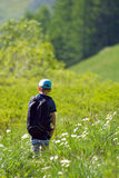 Child walking in nature Stock Photography