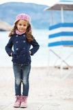 Child walking near the sea Stock Photography