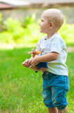 Child walking in the park Royalty Free Stock Photography