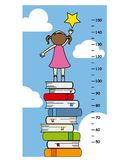 Child wall meter Royalty Free Stock Photo