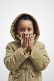 child warming up Stock Images