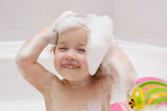 Child is washing Royalty Free Stock Photos