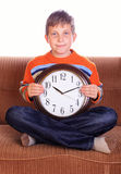 Child with watch Stock Images