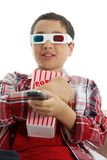 Child watching movie Royalty Free Stock Photography
